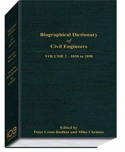 Cover of: Biographical Dictionary of Civil Engineers in Great Britain and Ireland, volume 2: 1830-1890 | P. S. M. Cross-Rudkin, M. M. Chrimes, M. R. Bailey