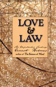 Cover of: Love and Law