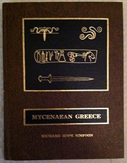 Cover of: Mycenaean Greece | R. Hope Simpson