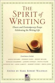 Cover of: The spirit of writing |