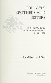 Cover of: Princely brothers and sisters | Jonathan Reed Lyon