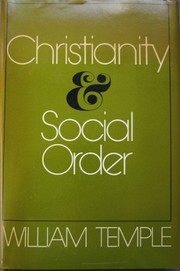 Cover of: Christianity and social order | William Temple