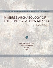 Cover of: Mimbres archaeology of the Upper Gila, New Mexico