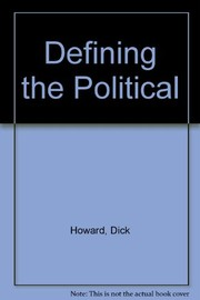 Cover of: Defining the political