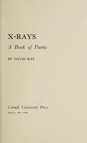 Cover of: X-rays, a book of poems