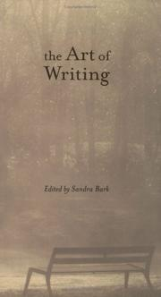 Cover of: The art of writing