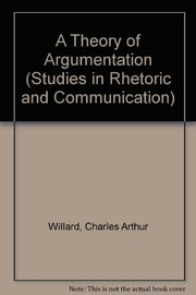 Cover of: A theory of argumentation