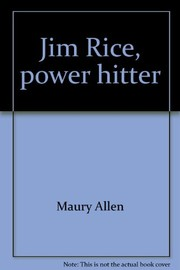 Cover of: Jim Rice, power hitter | Maury Allen