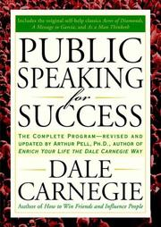 Cover of: Public Speaking for Success