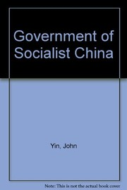 Cover of: Government of socialist China