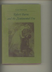 Cover of: Robert Burns and the sentimental era