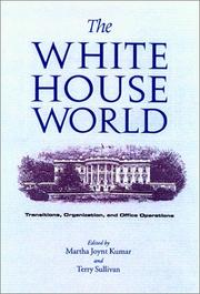 Cover of: The White House world |