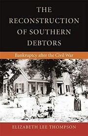 Cover of: The reconstruction of southern debtors | Elizabeth Lee Thompson