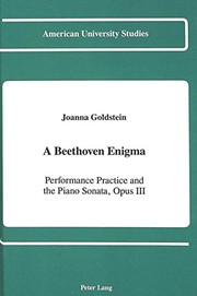 Cover of: A Beethoven enigma | Joanna Goldstein