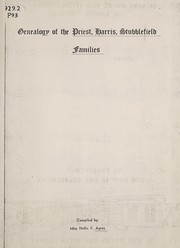 Cover of: Genealogy of the Priest, Harris, Stubblefield families
