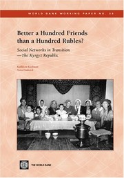 Cover of: Better a hundred friends than a hundred rubles? | Kathleen R. Kuehnast
