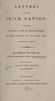 Cover of: Letters on the Irish nation | Cooper, George
