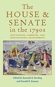 Cover of: The House and Senate in the 1790s |