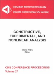 Cover of: Constructive, experimental, and nonlinear analysis |