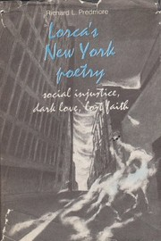 Cover of: Lorca's New York poetry