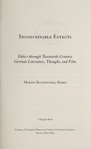 Cover of: Inconceivable effects