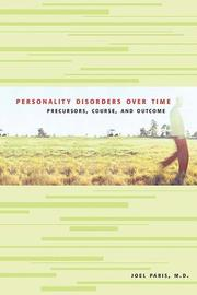 Cover of: Personality Disorders over Time