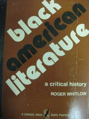 Cover of: Black American literature | Roger Whitlow