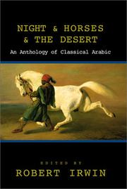 Cover of: Night and Horses and the Desert