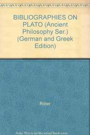 Cover of: Bibliographies on Plato, 1912-1930