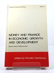 Cover of: Money and finance in economic growth and development