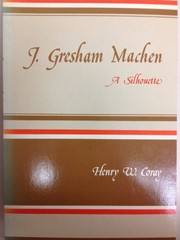 Cover of: J. Gresham Machen