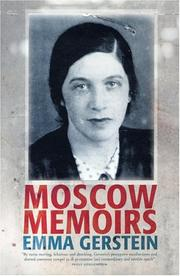Cover of: Moscow memoirs