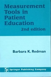 Cover of: Measurement tools in patient education |
