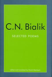 Cover of: C.N. Bialik: Selected Poems (Jewish Classics)