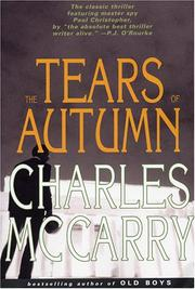 Cover of: The tears of autumn | Charles McCarry