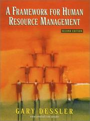 Cover of: A Framework for Human Resource Management