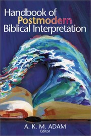 Cover of: Handbook of postmodern biblical interpretation |