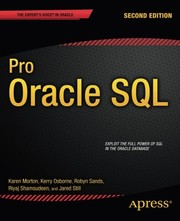 Cover of: Pro Oracle SQL (Expert's Voice in Oracle)
