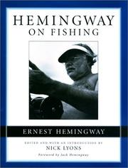 Cover of: Hemingway on Fishing