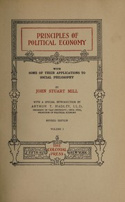 Cover of: Principles of political economy | John Stuart Mill