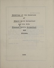 Cover of: Genealogy of the ancestors of Edward David Retherford and his wife Florence Morris Retherford and kinsman | Edward David Retherford