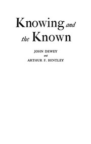 Cover of: Knowing and the known