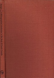 Cover of: A bibliographical introduction to the study of French Canada