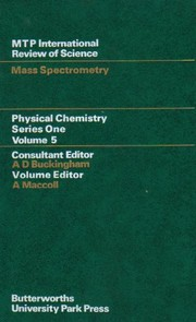Cover of: Mass spectrometry | A. Maccoll
