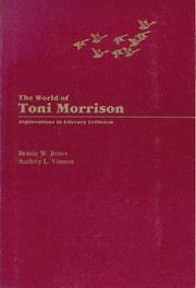 Cover of: The world of Toni Morrison