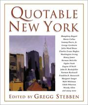 Cover of: Quotable New York | Gregg Stebben