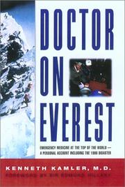Cover of: Doctor on Everest | Kenneth Kamler