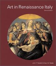 Cover of: Art in Renaissance Italy