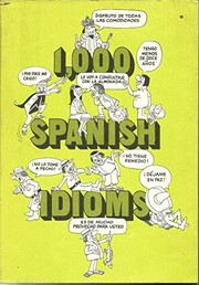 Cover of: 1,000 Spanish idioms | J. Dale Miller