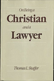 Cover of: On being a Christian and a lawyer